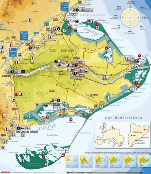 Mapa del Delta de l'Ebre